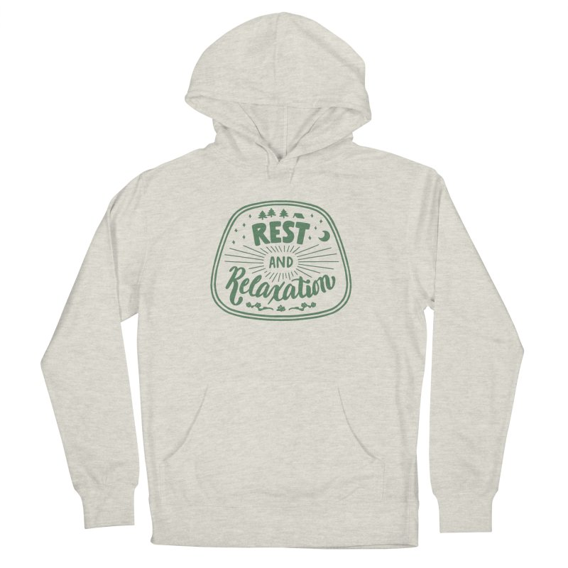 Rest and Relaxation Women's French Terry Pullover Hoody by Jen Marquez Ginn's Shop