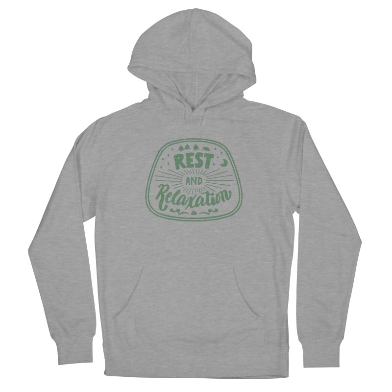 Rest and Relaxation Men's French Terry Pullover Hoody by Jen Marquez Ginn's Shop
