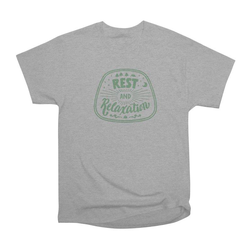 Rest and Relaxation Men's Heavyweight T-Shirt by Jen Marquez Ginn's Shop