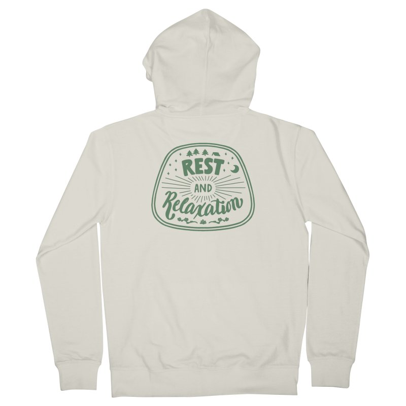 Rest and Relaxation Women's French Terry Zip-Up Hoody by Jen Marquez Ginn's Shop
