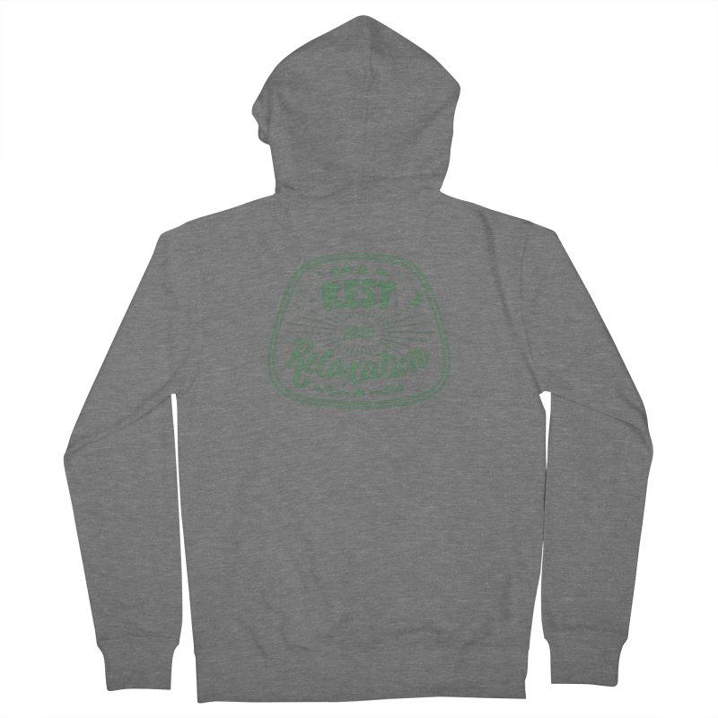 Rest and Relaxation Men's Zip-Up Hoody by Jen Marquez Ginn's Shop