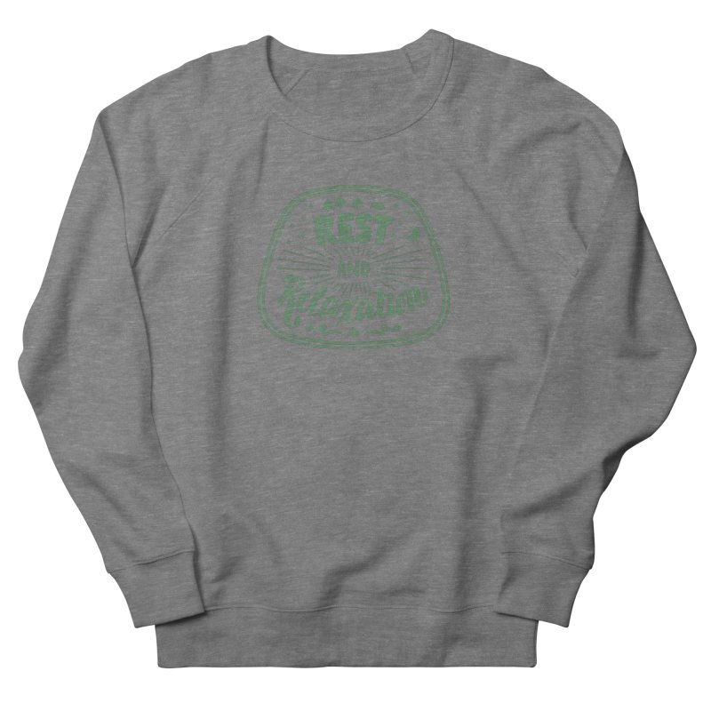 Rest and Relaxation Men's French Terry Sweatshirt by Jen Marquez Ginn's Shop