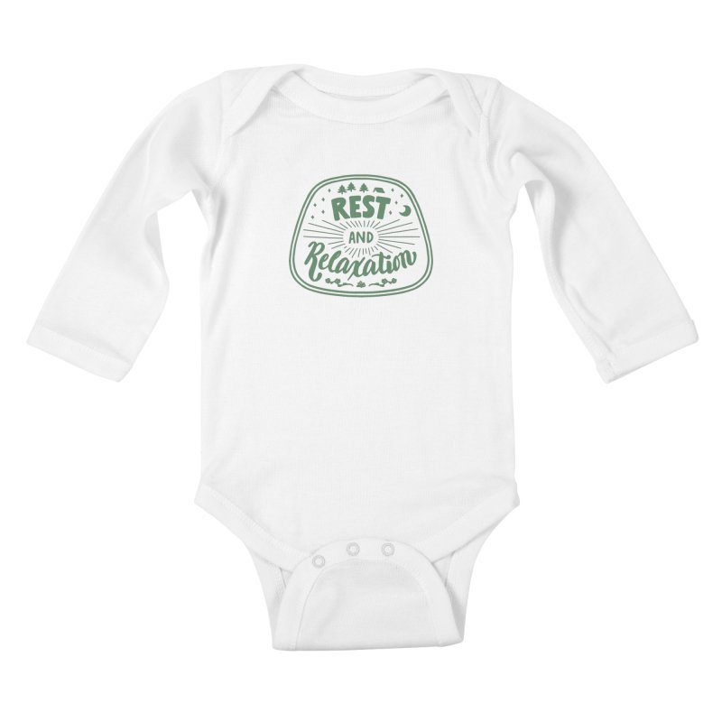 Rest and Relaxation Kids Baby Longsleeve Bodysuit by Jen Marquez Ginn's Shop