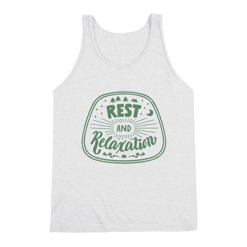 Rest and Relaxation Men's Triblend Tank by Jen Marquez Ginn's Shop