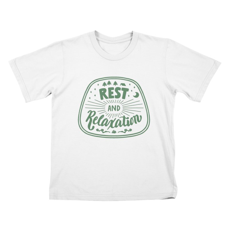 Rest and Relaxation Kids T-Shirt by Jen Marquez Ginn's Shop