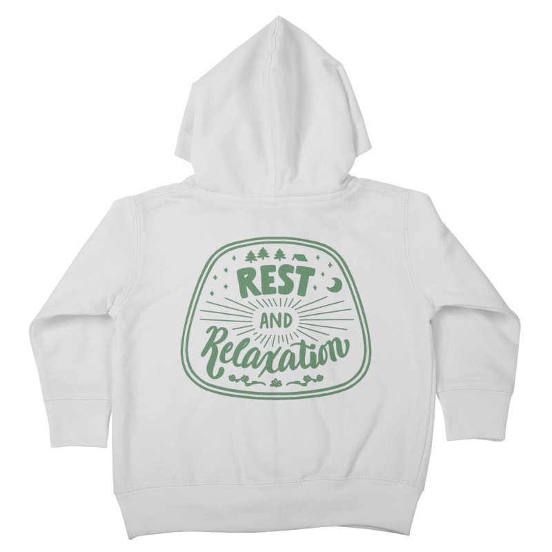 Rest and Relaxation Kids Toddler Zip-Up Hoody by Jen Marquez Ginn's Shop