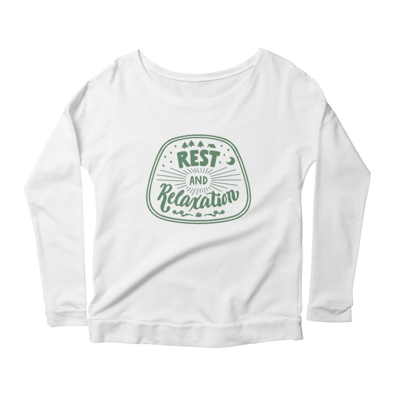 Rest and Relaxation Women's Scoop Neck Longsleeve T-Shirt by Jen Marquez Ginn's Shop