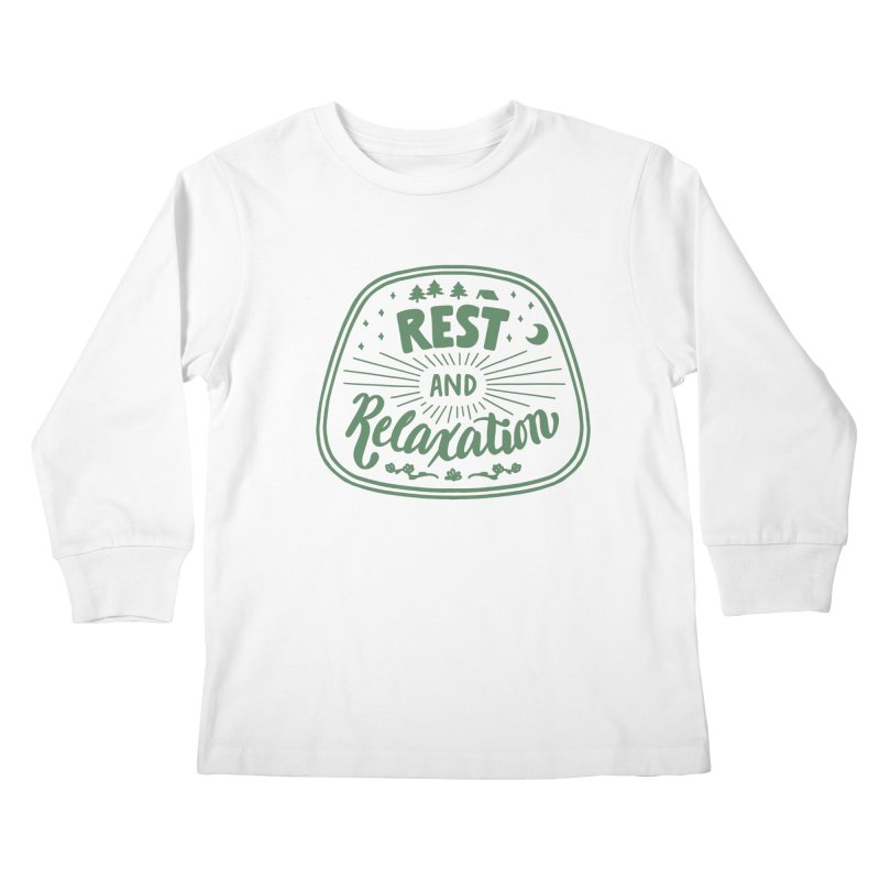 Rest and Relaxation Kids Longsleeve T-Shirt by Jen Marquez Ginn's Shop