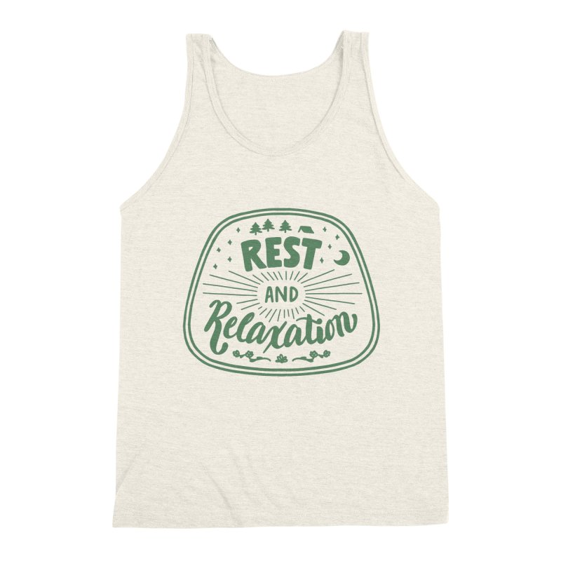 Rest and Relaxation Men's Tank by Jen Marquez Ginn's Shop