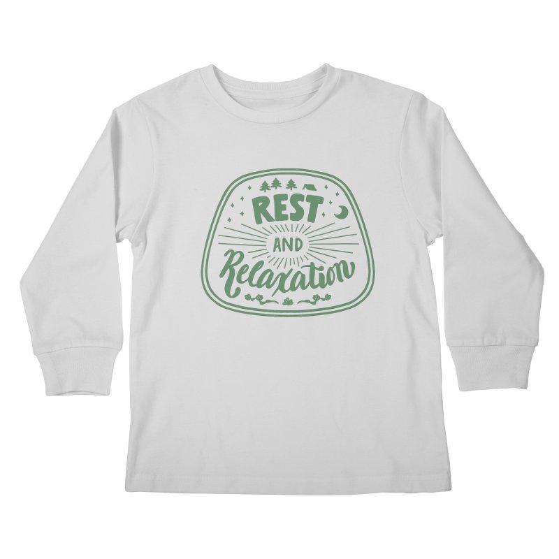 Rest and Relaxation Kids Longsleeve T-Shirt by Jen Marquez Ginn's Shop