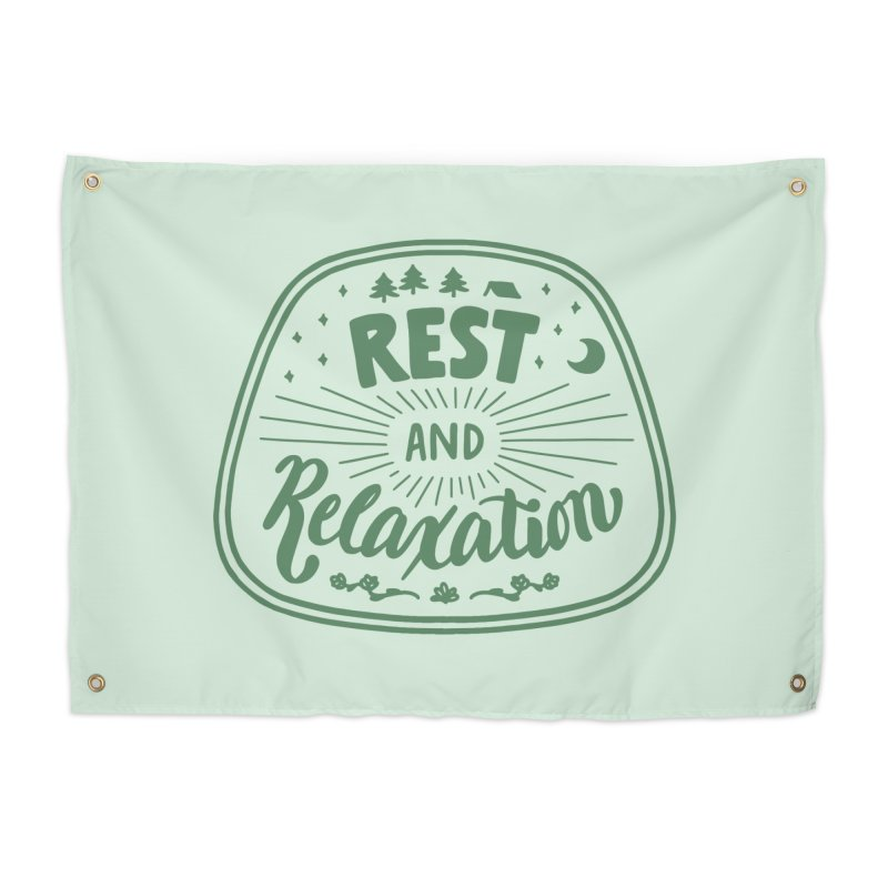 Rest and Relaxation Home Tapestry by Jen Marquez Ginn's Shop