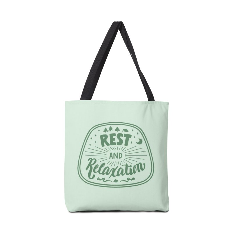 Rest and Relaxation Accessories Tote Bag Bag by Jen Marquez Ginn's Shop