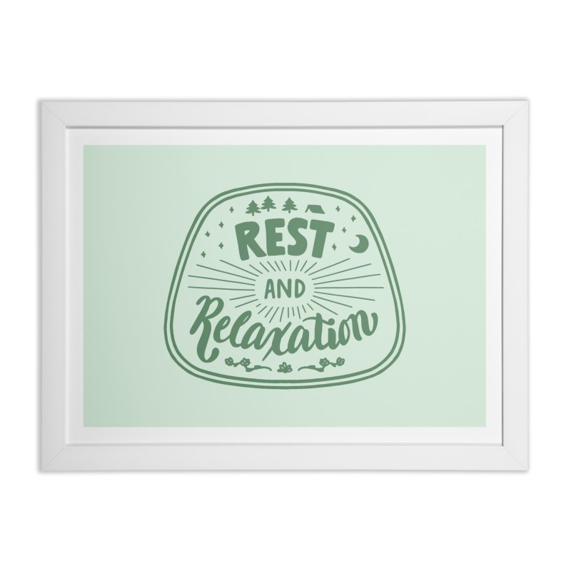Rest and Relaxation Home Framed Fine Art Print by Jen Marquez Ginn's Shop