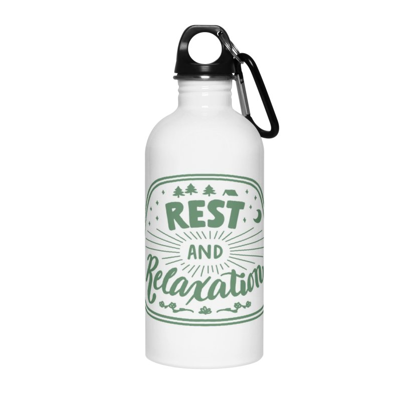 Rest and Relaxation Accessories Water Bottle by Jen Marquez Ginn's Shop