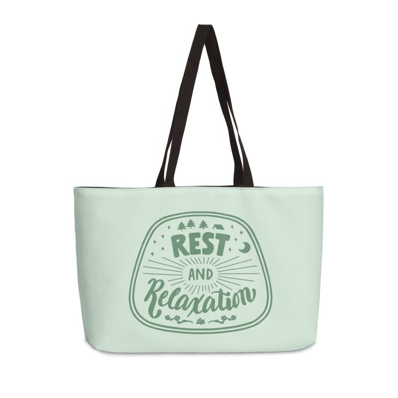 Rest and Relaxation Accessories Weekender Bag Bag by Jen Marquez Ginn's Shop