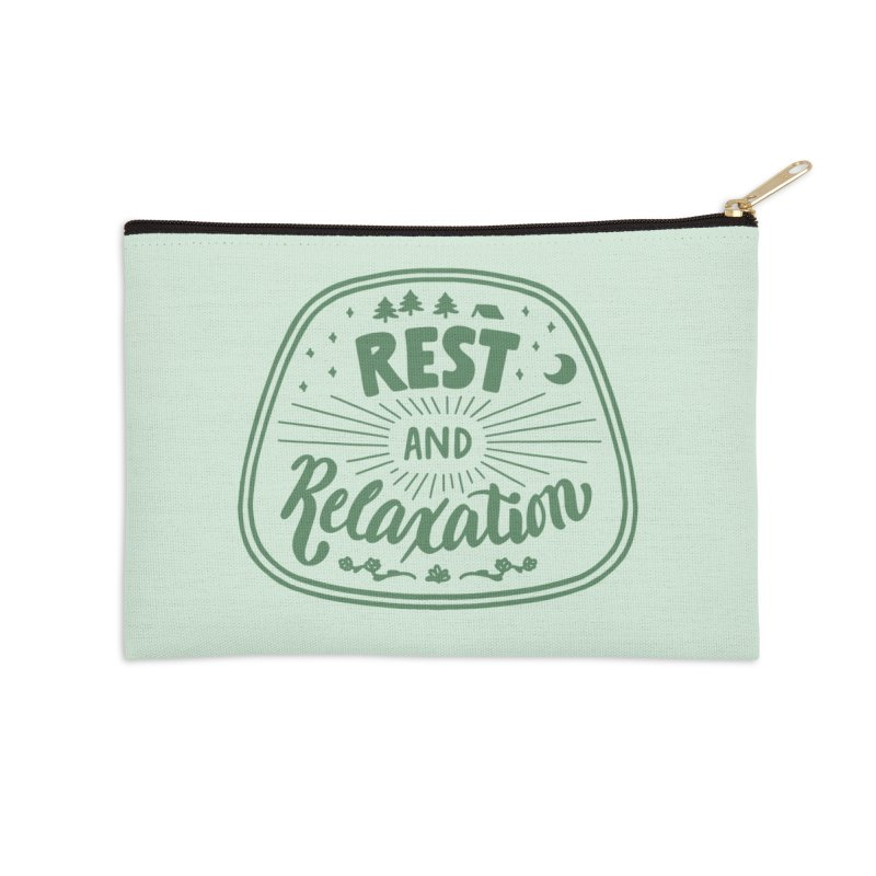 Rest and Relaxation Accessories Zip Pouch by Jen Marquez Ginn's Shop