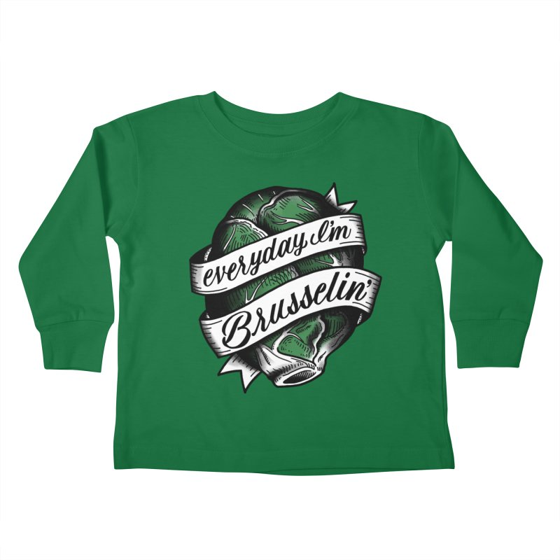 Brusselin Kids Toddler Longsleeve T-Shirt by jenmussari's Artist Shop