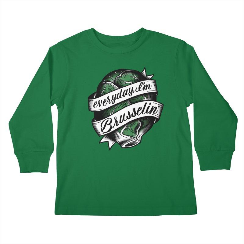 Brusselin Kids Longsleeve T-Shirt by jenmussari's Artist Shop