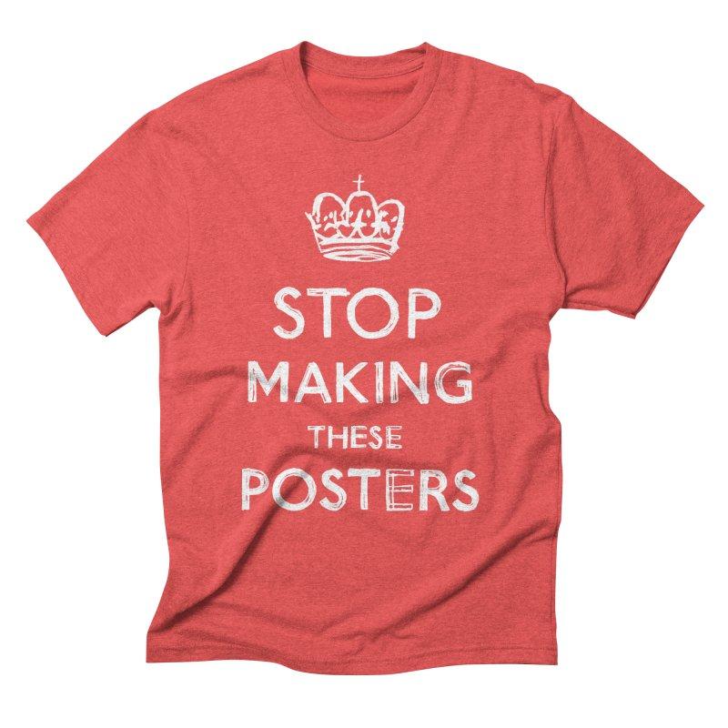 Keep Calm Men's Triblend T-shirt by jenmussari's Artist Shop