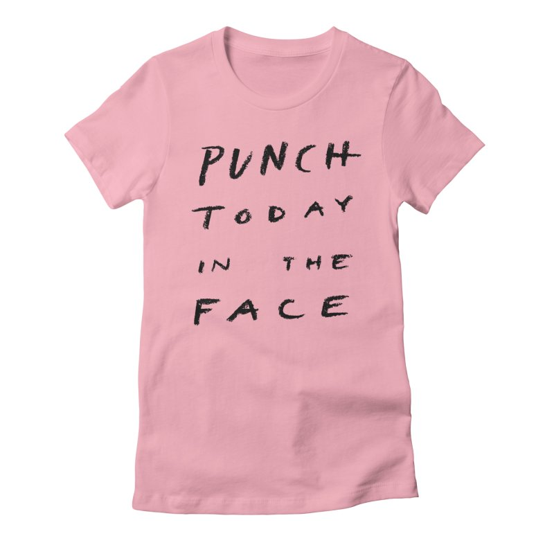 Punch Women's Fitted T-Shirt by jenmussari's Artist Shop