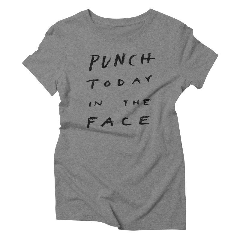 Punch Women's Triblend T-Shirt by jenmussari's Artist Shop