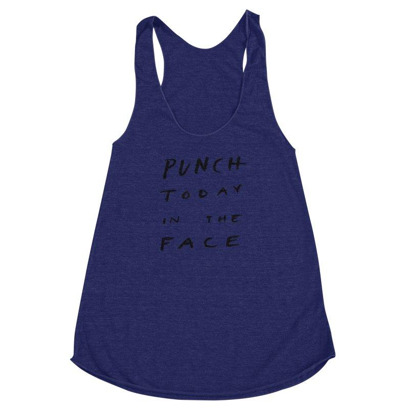 Punch Women's Racerback Triblend Tank by jenmussari's Artist Shop