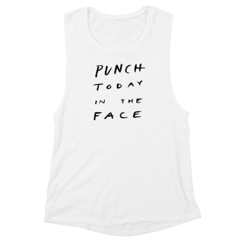 Punch Women's Muscle Tank by jenmussari's Artist Shop
