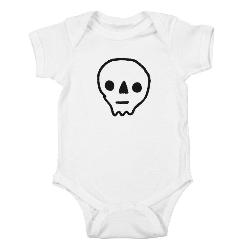 Skull Kids Baby Bodysuit by jenmussari's Artist Shop