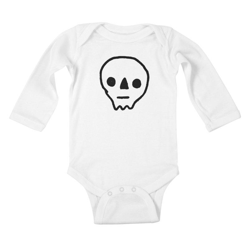 Skull Kids Baby Longsleeve Bodysuit by jenmussari's Artist Shop