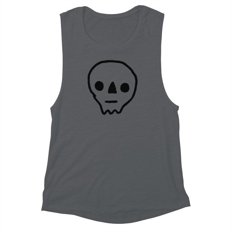 Skull Women's Muscle Tank by jenmussari's Artist Shop