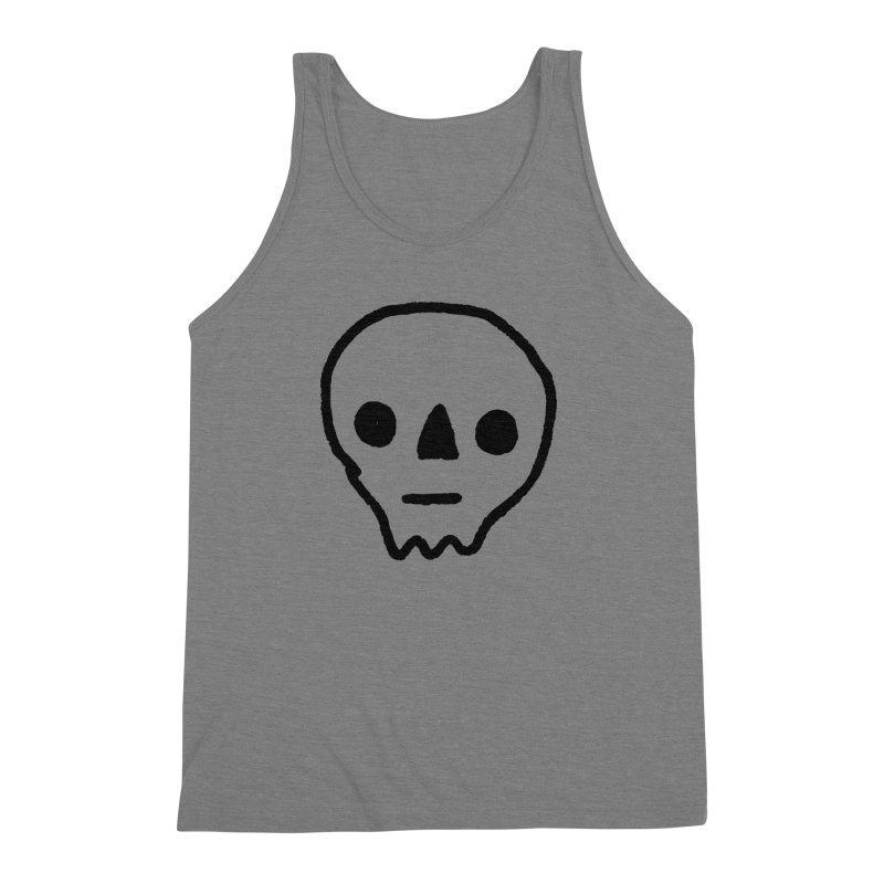 Skull Men's Triblend Tank by jenmussari's Artist Shop