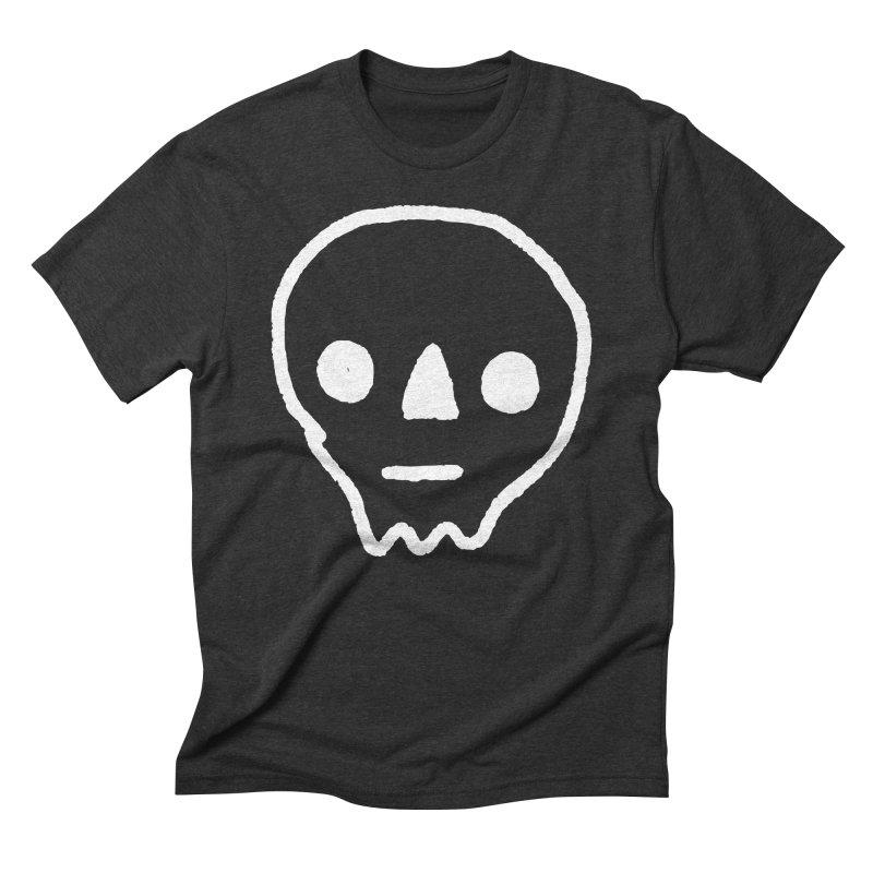 Skull Men's Triblend T-shirt by jenmussari's Artist Shop
