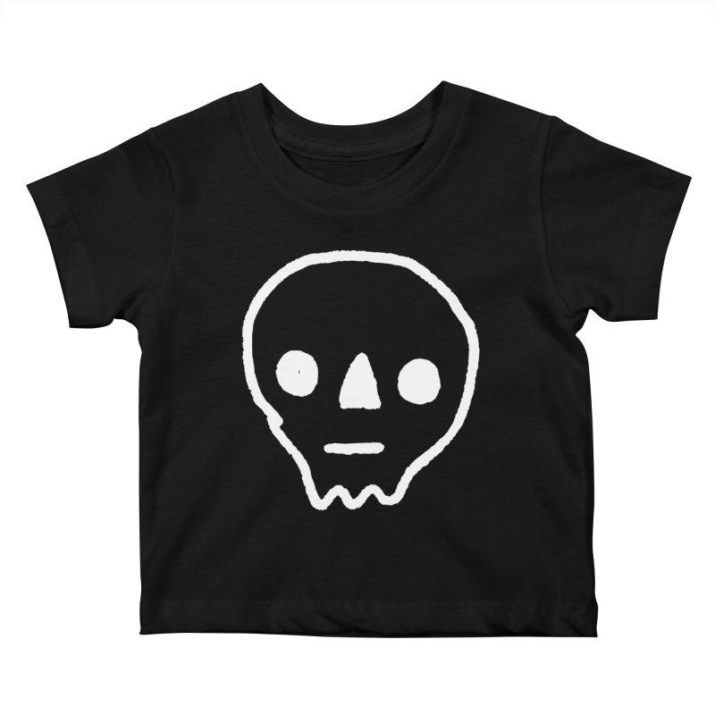 Skull Kids Baby T-Shirt by jenmussari's Artist Shop