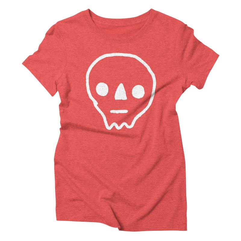 Skull Women's Triblend T-Shirt by jenmussari's Artist Shop