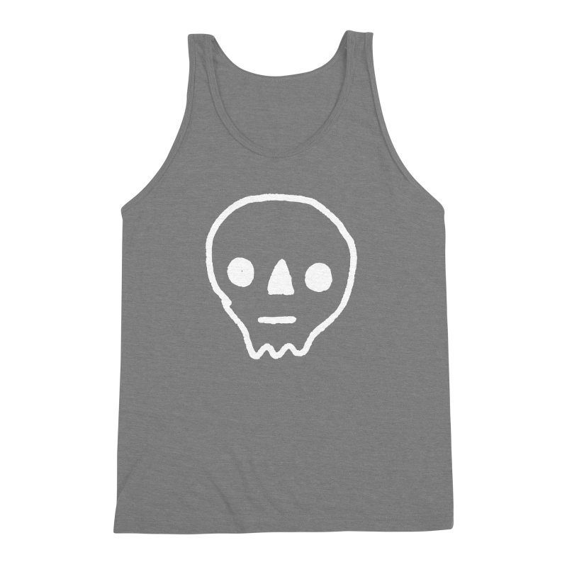 Skull Men's Triblend Tank by jenmussari's Artist Shop