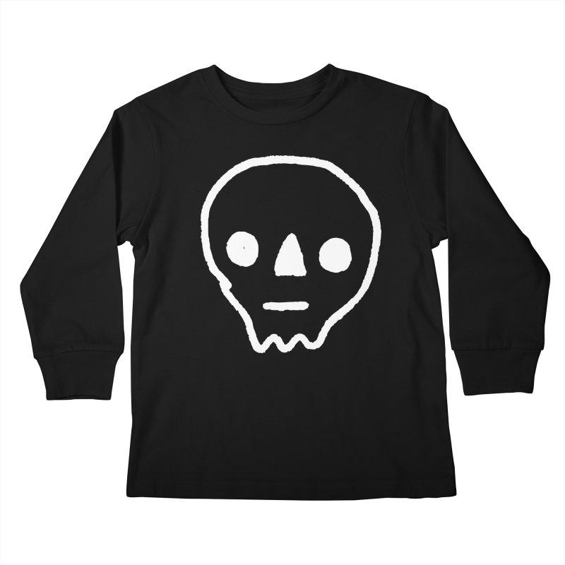 Skull Kids Longsleeve T-Shirt by jenmussari's Artist Shop
