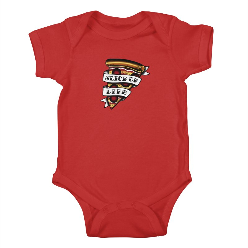 Slice of Life Kids Baby Bodysuit by jenmussari's Artist Shop