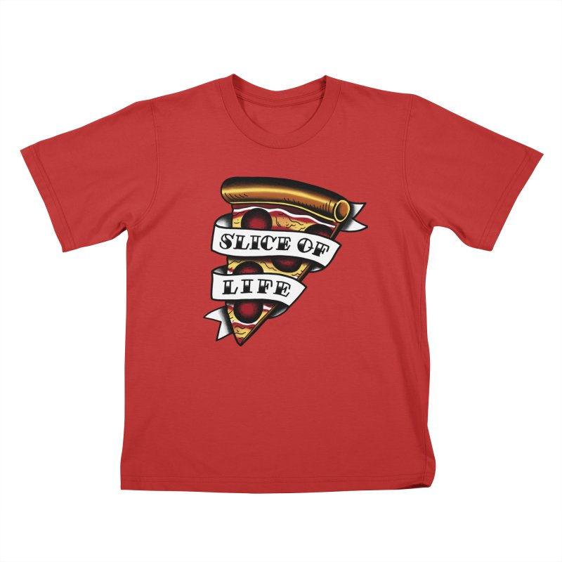 Slice of Life Kids T-shirt by jenmussari's Artist Shop