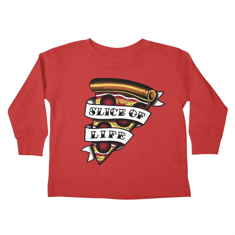 Slice of Life Kids Toddler Longsleeve T-Shirt by jenmussari's Artist Shop