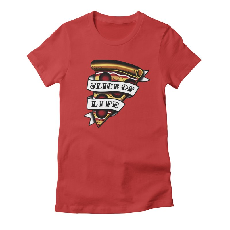Slice of Life Women's Fitted T-Shirt by jenmussari's Artist Shop