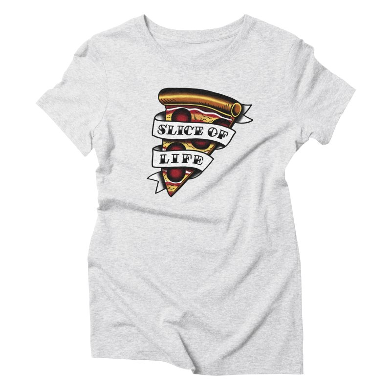 Slice of Life Women's Triblend T-shirt by jenmussari's Artist Shop