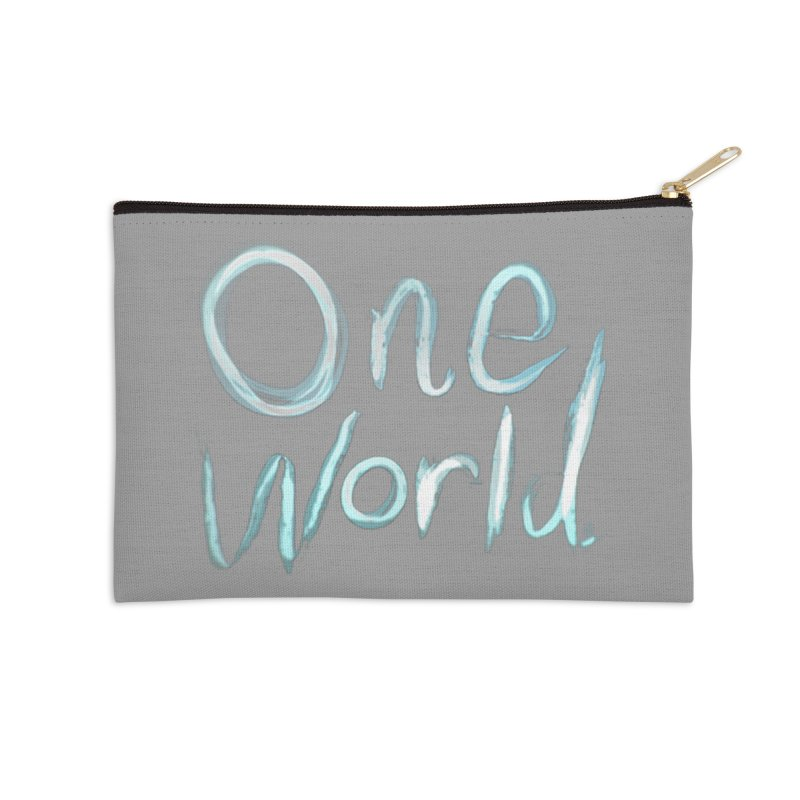 One World Accessories Zip Pouch by Jenna YoNa Bloom's Artist Shop