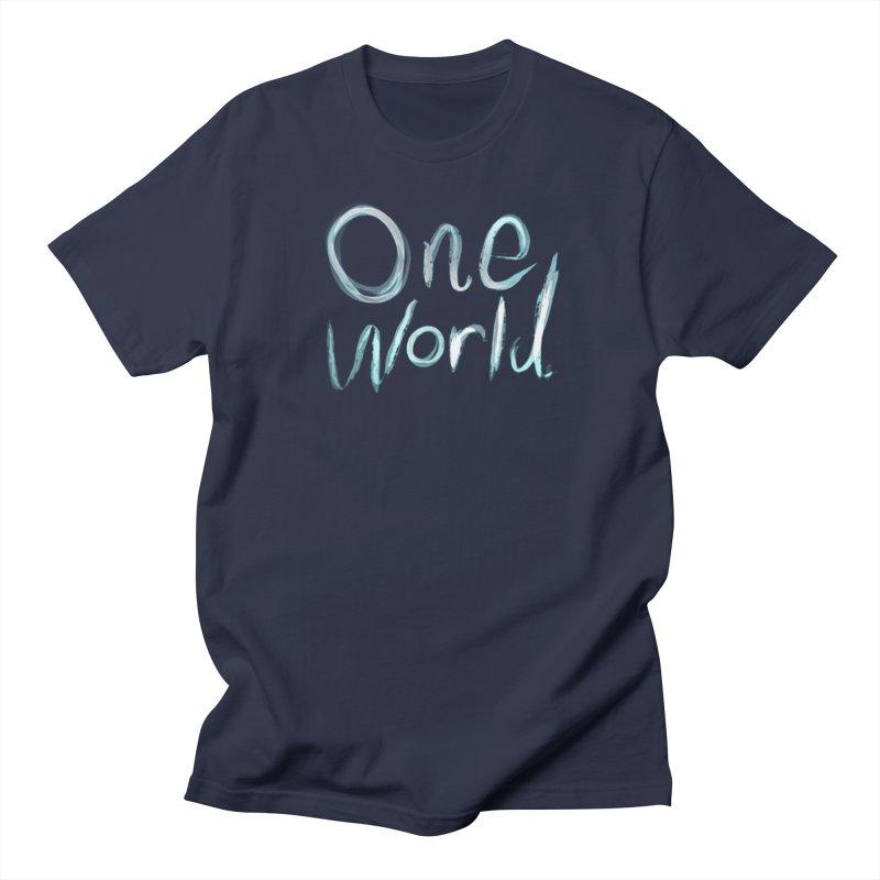 One World Men's T-Shirt by Jenna YoNa Bloom's Artist Shop