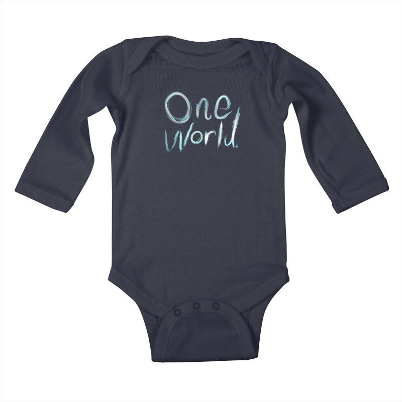 One World Kids Baby Longsleeve Bodysuit by Jenna YoNa Bloom's Artist Shop
