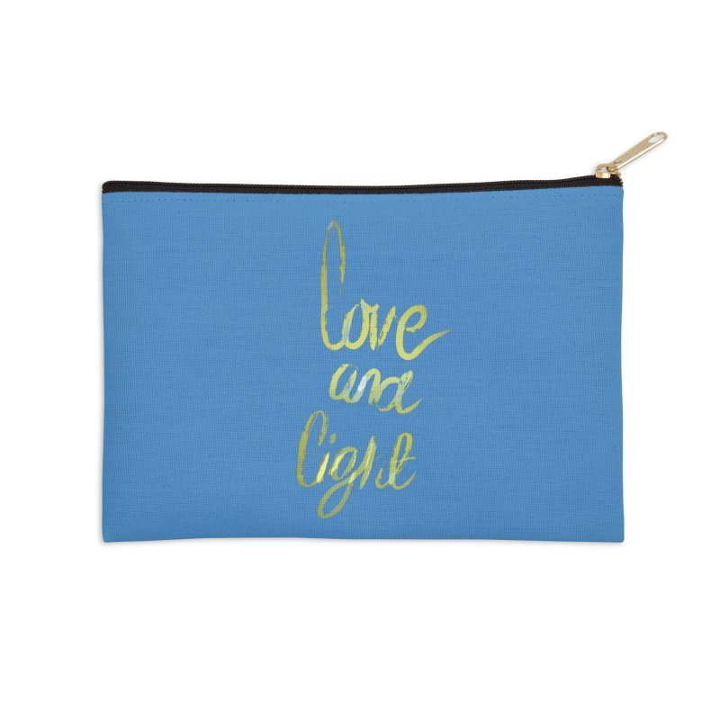 love and light Accessories Zip Pouch by Jenna YoNa Bloom's Artist Shop