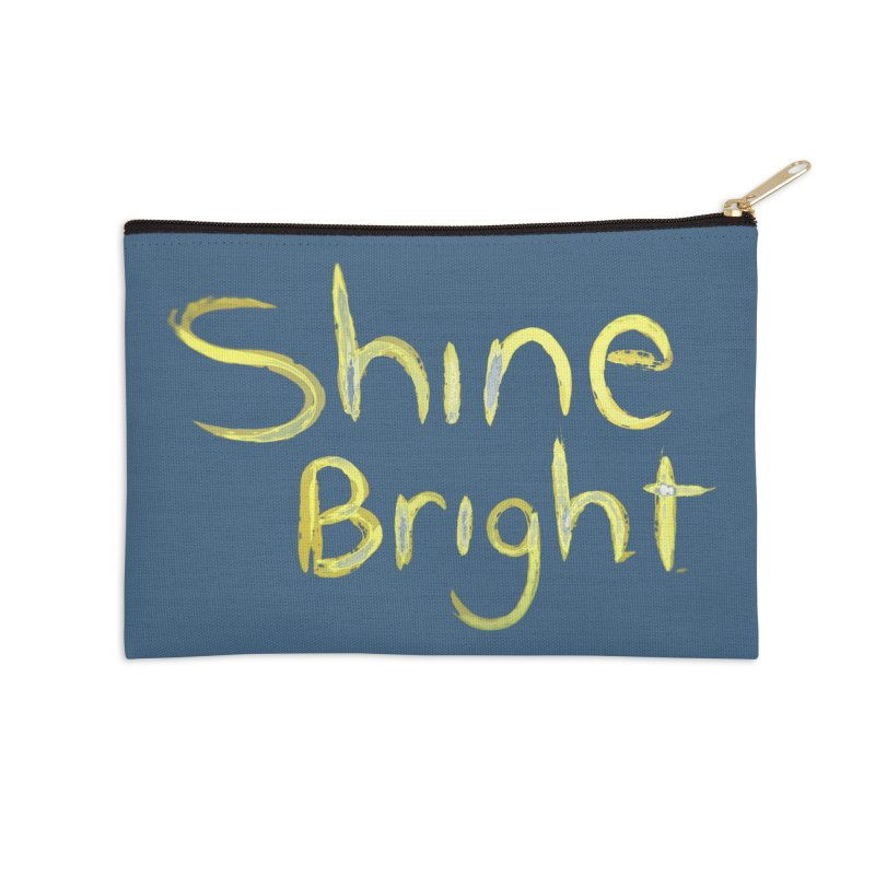 Shine bright Accessories Zip Pouch by Jenna YoNa Bloom's Artist Shop