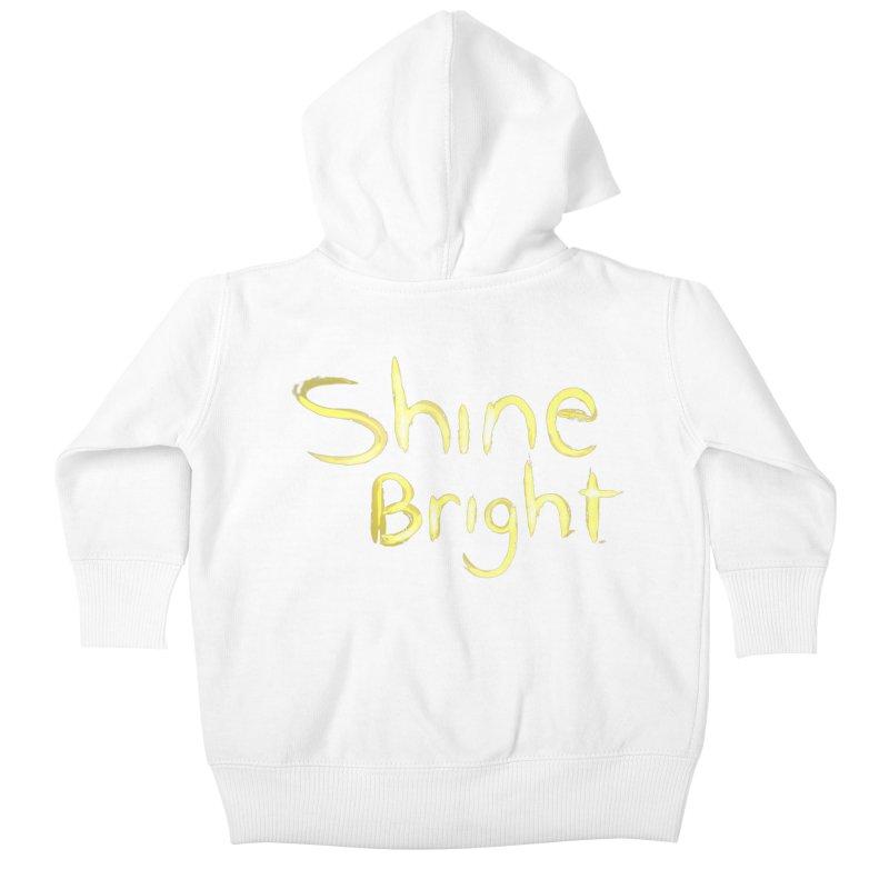 Shine bright Kids Baby Zip-Up Hoody by Jenna YoNa Bloom's Artist Shop