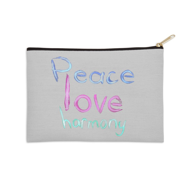 Peace, Love, Harmony Accessories Zip Pouch by Jenna YoNa Bloom's Artist Shop