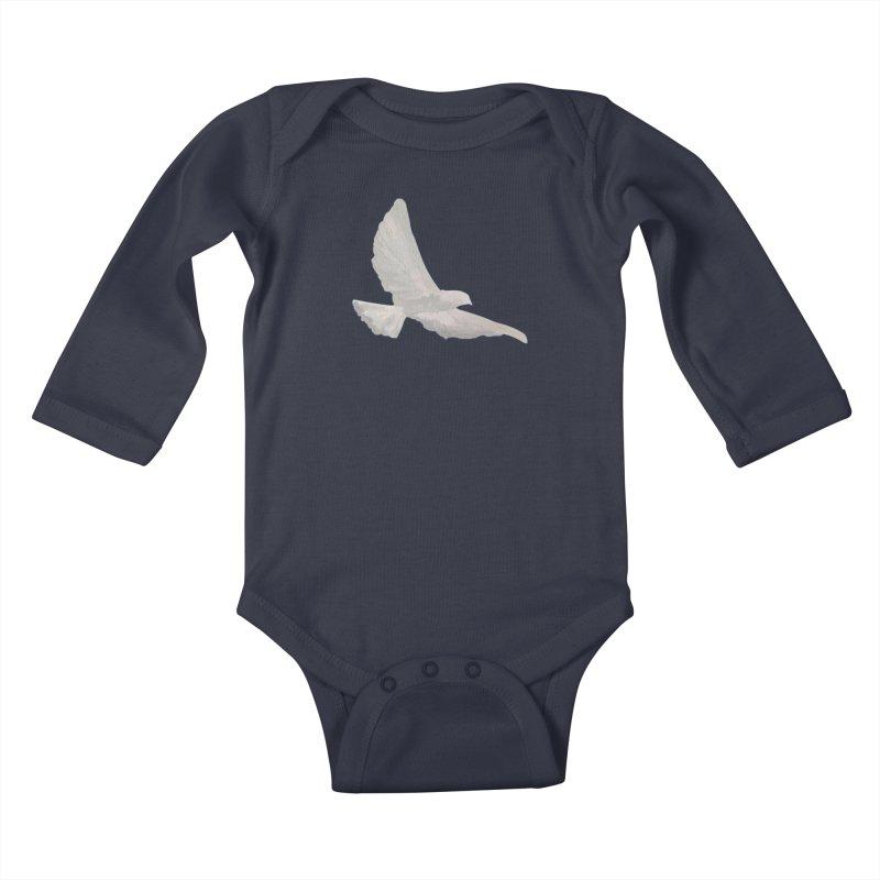 Dove of peace Kids Baby Longsleeve Bodysuit by Jenna YoNa Bloom's Artist Shop