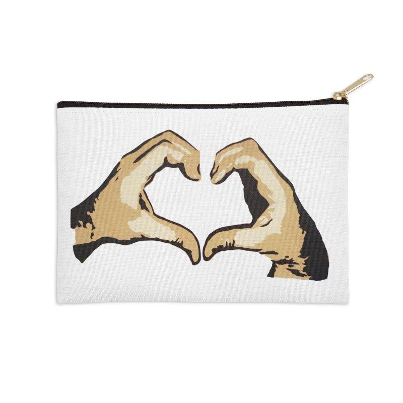 Spread love Accessories Zip Pouch by Jenna YoNa Bloom's Artist Shop